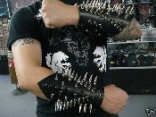 (SEPULTURA).....LEATHER SPIKED BRACELET (MDLG0047)