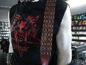 (DREAM THEATER).....RED LEATHER GUITAR STRAP (MDLS0067)