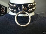 TRISTANIA ...LEATHER STUDDED BONDAGE CHOKER (MDLC0076)