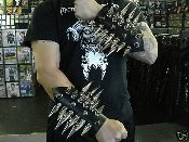 BELPHEGOR ...LEATHER GIANT MEDIUM SPIKED GAUNTLET ... (MDLG0058)