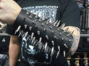 (MARDUK).....61 Large Spikes Leather Gauntlet (MDLG0011)