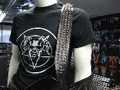 (BLACK WITCHERY).....SPIKED LEATHER GUITAR STRAP (MDLS0036)