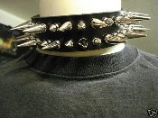 (NILE).....LEATHER SPIKED UNISEX CHOKER.(MDLC0083)