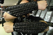 (MOONBLOOD).....LEATHER STUDDED ARMBAND.(MDLG0104).