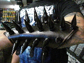 WATAIN ...LEATHER GIANT BLACK SPIKE GAUNTLET...(MDLG0119)
