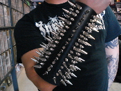 (SKELETONWITCH).....Mixed Spikes Leather Gauntlet (MDLG0009)