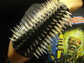 (BEHEXEN). BLACK SPIKED LEATHER GAUNTLET (MDLG0231)