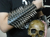 (FORGOTTEN TOMB)..UNISEX SPIKE LEATHER GAUNTLET (MDLUG0257)