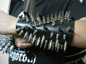 ENTOMBED ...Old School Spiked Leather Gauntlet ...(MDLG0007)