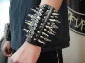CONQUEROR ..UNISEX BRACELET SMALL SIZE MIXED SPIKES  (MDLUB0267)