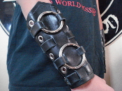 VIO-LENCE ...UNISEX VIKING STRAPPED LEATHER GAUNTLET (MDLUG0275)