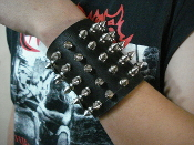 OPPRESSOR  ...LEATHER SPIKED BRACELET  (MDLB0209)