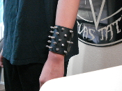 (E.T.T.S) .....LEATHER SPIKED BRACELET  (MDLB0211)