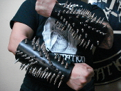 (OFERMOD).....Killer  Spikes Leather Gauntlet (MDLG0012)