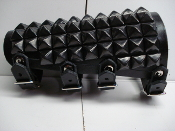 (ANAL BLAST).....UNISEX STUDDED LEATHER GAUNTLET.(MDLUG0150)