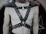 TRANSMETAL ...LEATHER SPIKED HARNESS ....(MDLH0092)