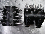 (CEPAHALIC CARNAGE) .....LEATHER SPIKED BRACELET.(MDLB0212)