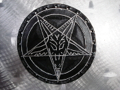 LEATHER PENTAGRAM... (black death)   03