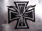 SATANIC BLACK METAL PATCH    2480