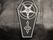 SATANIC BACKPATCH  (black metal)    244*