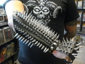 DROWNING THE LIGHT ...fist leather spiked gauntlet.  (MDLG0025)
