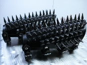 KALMAH ...UNISEX SPIKE AND STUDS  LEATHER GAUNTLET (MDLUG0172)