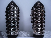 KOVENANT ...LEATHER GIANT PYRAMIDS STUDS GAUNTLET (MDLG0107)