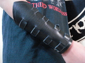 DESASTER ...UNISEX VIKING STRAPED LEATHER GAUNTLET (MDLUG0273)