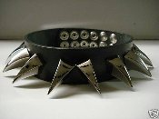 ANAAL NATHRAKH ...DRAGON CLAWS SPIKE LEATHER CHOKER (MDLC0078)