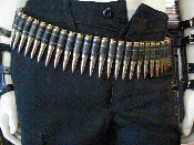 M60 Bullet Belt - Full Brass Black Link (PUNK METAL)   002