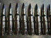 M60 Bullet Strip of 7- Full Nickle Nickle Link (GOTH METAL)  005
