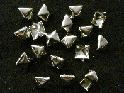 "STUDS - Pyramid Standard 1/2"" silver (Nickle) - bag of 50"