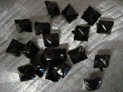 "STUDS -Black Pyramid Standard 1/2""  (Nickle) - bag of 50"