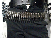 M60 Bullet Belt - Full Nickle Nickle Link (GOTH METAL)   005