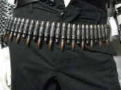 M60 Bullet Belt-Copper Tip & Nickle Sheells  (SPEED METAL)  017