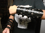 ANATHEMA  ...BLACK LEATHER VIKING GAUNTLET (MDLG0226)