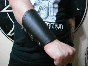 REVENGE ...Black Plain Leather Gauntlet ...(MDLG0243)