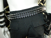 KEEP OF KELESSIN ...LEATHER CHROME  SPIKED BELT.....(MDLSB0305)
