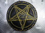 LEATHER PENTAGRAM... (black death)   01