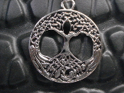 CELTIC KNOT TREE OF LIFE PEWTER PENDANT  083
