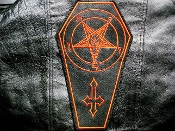 SATANIC BACKPATCH  (black metal)    136*