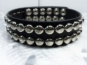 GG ALLIN ...LEATHER DOME STUDDED CHOKER ...(MDLC0081)