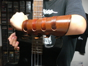 MORTIIS ...BROWN LEATHER VIKING GAUNTLET (MDLG0225)