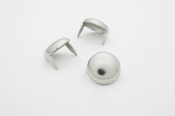 "VEPAR ...Large Silver Dome Studs 5/8""-Bag of 100   01"