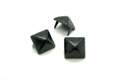 PHENEX ...16mm (5/8 inch) black pyramid studs - Bag of 100   03