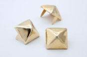 PAIMON ...5/8 inch (16mm) golden pyramid studs - Bag of 100   04