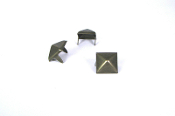 GUSION ...1/2 inch Antique-Brass  pyramid studs- Bag of 100   11