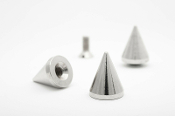 "BELIAL ...Silver Bulldog Cone Spike 19mm (3/4"") Bag of 20   06"